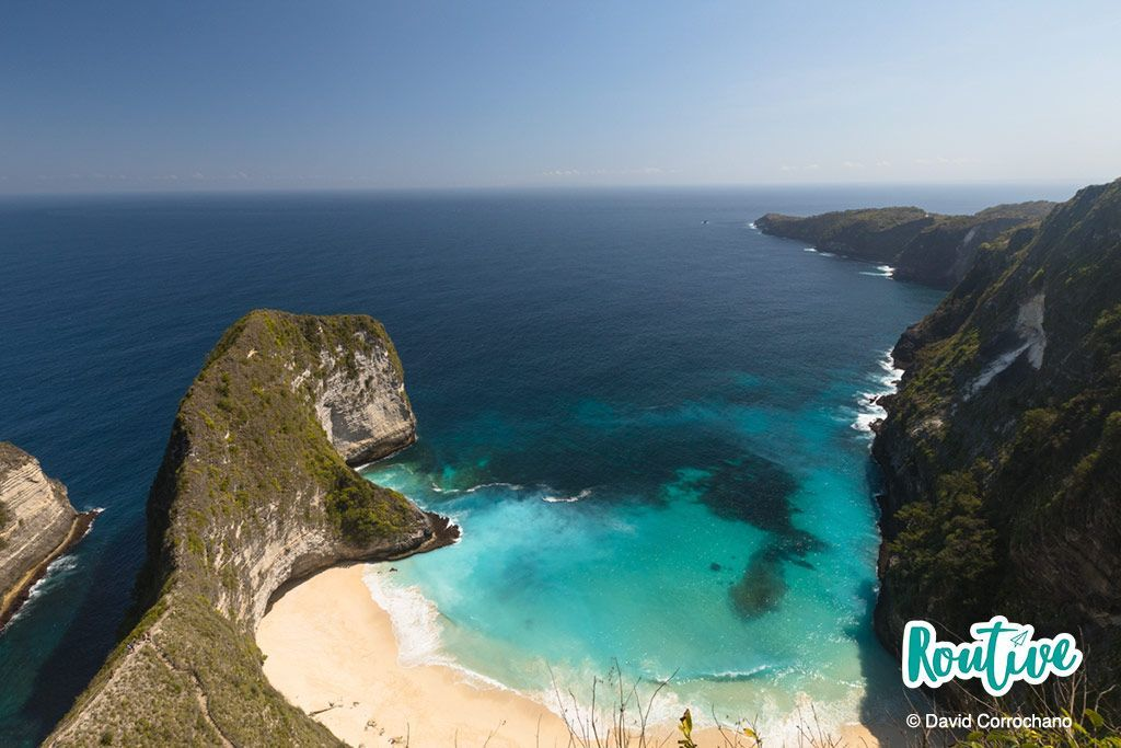 kelingking beach playa bali indonesia nusa penida lembongan mar oceano arena naturaleza routive